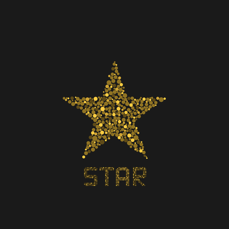 Golden star logo template. Success symbol, vector illustration Иллюстрация