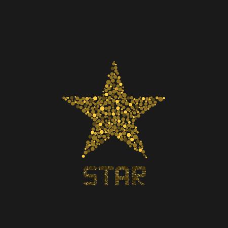 Golden star logo template. Success symbol, vector illustration Illustration