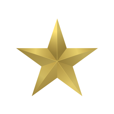 star award: Golden star logo icon for your company. Success, award, honour symbol