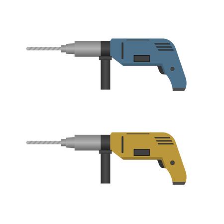 hand drill: Vector illustration of Electric hand drill set Illustration