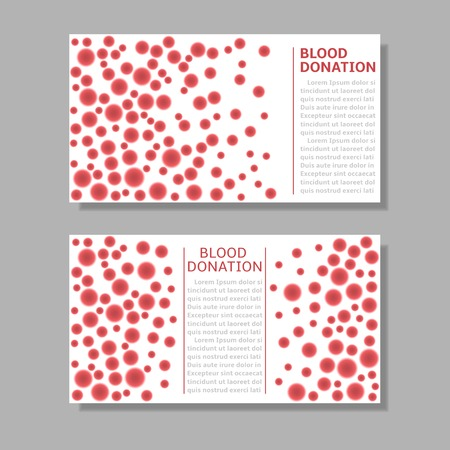 microcosmic: Blood donation banner set. Abstract patterns, Vector illustration