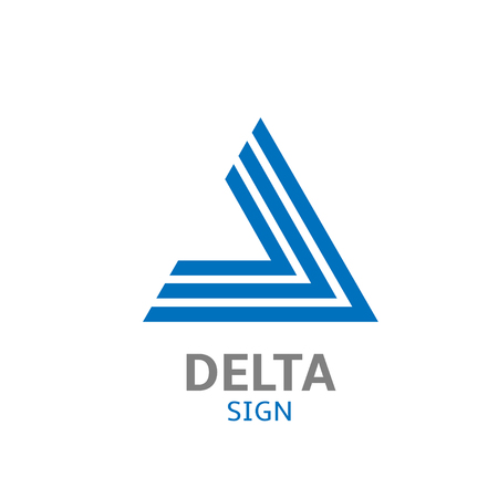 delta: Blue Abstract delta  sign. Vector illustration