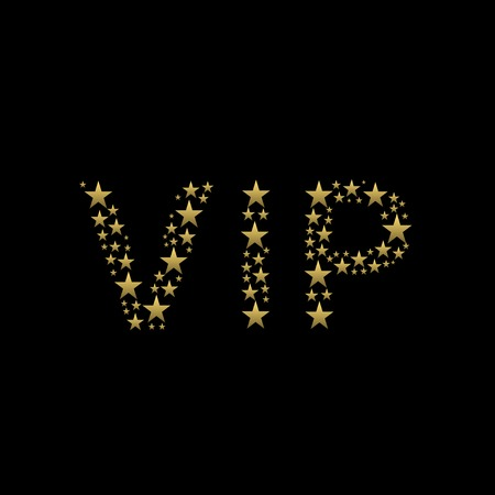 very important person: VIP text. Very Important Person, luxury and wealth concept