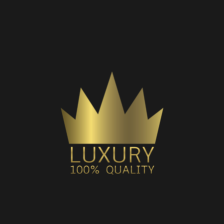 golden crown: Golden crown, Luxury quality symbol. Vector illustration