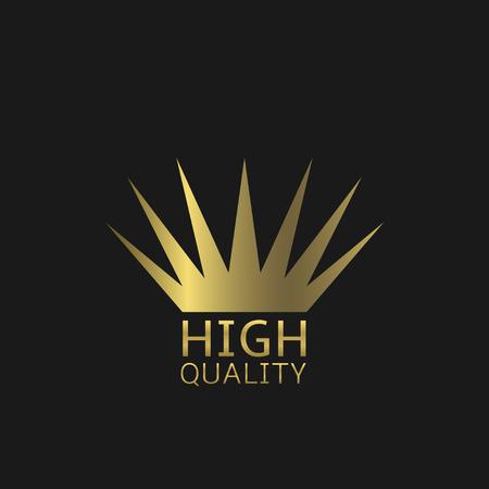 golden crown: High quality symbol. Golden crown, Vector illustration