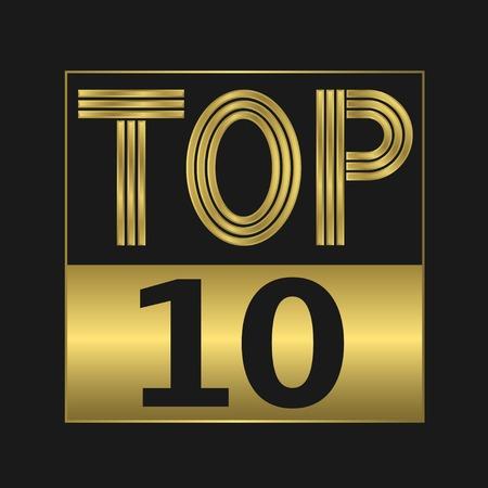 Top tien gouden bord voor muziekvideo of andere inhoud