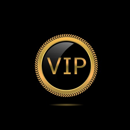 very important person: VIP golden badge Very Important Person Vector illustration