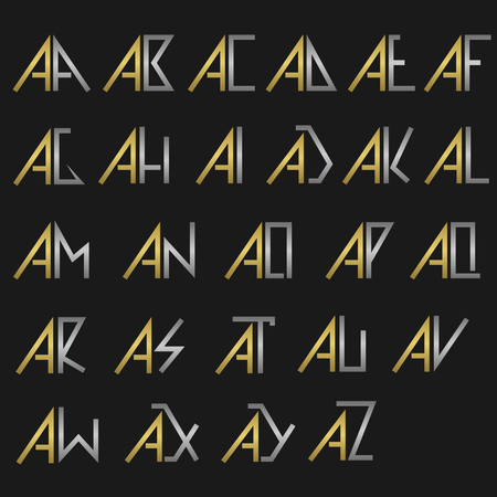 A And Other Alphabet Letters Monogram Royalty Free Cliparts Vectors And Stock Illustration Image 53138840