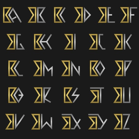B and other alphabet letters monogram