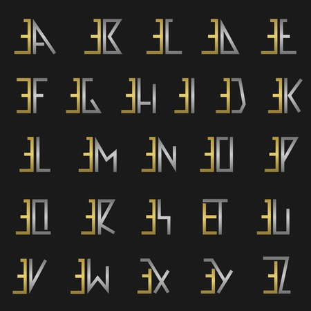 er: E and other alphabet letters monogram