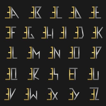 eg: E and other alphabet letters monogram
