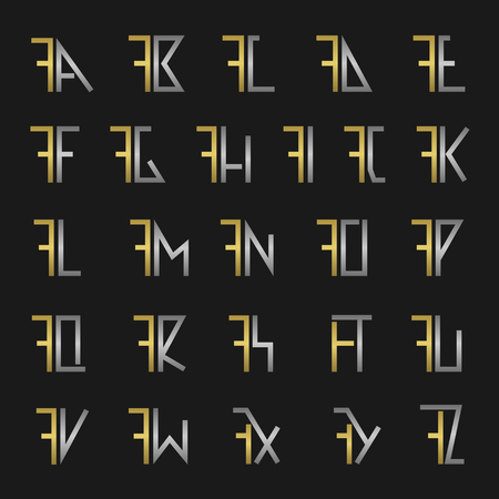 F and other alphabet letters monogram
