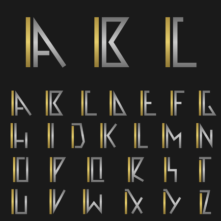 ic: I and other alphabet letters monogram