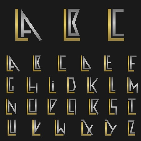 lp: L and other alphabet letters monogram