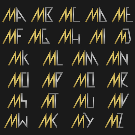 M and other alphabet letters monogram