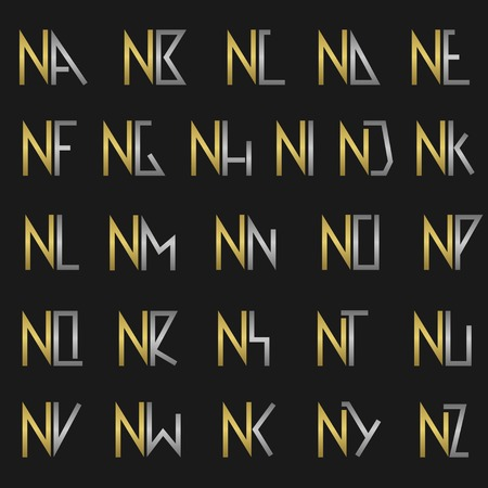 nb: N and other alphabet letters monogram