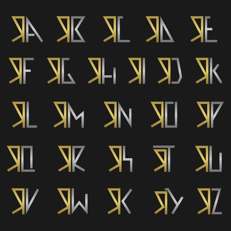 R and other alphabet letters monogram