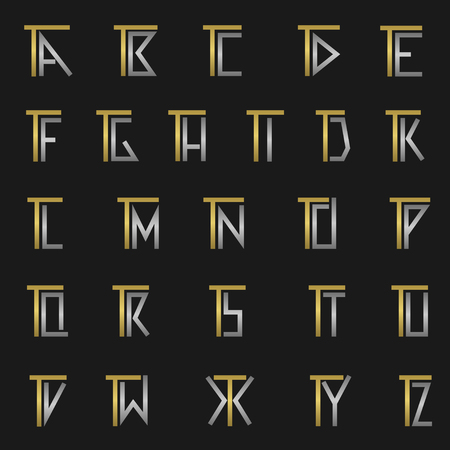 T and other alphabet letters monogram