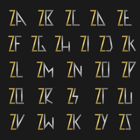 ze: Z and other alphabet letters monogram