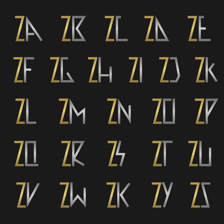 Z ve diğer alfabe harfleri tuğrası
