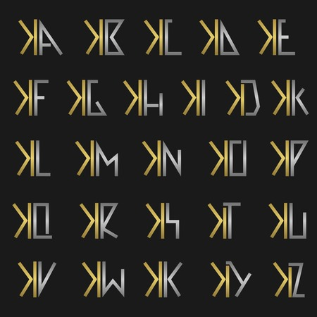 X and other alphabet letters monogram