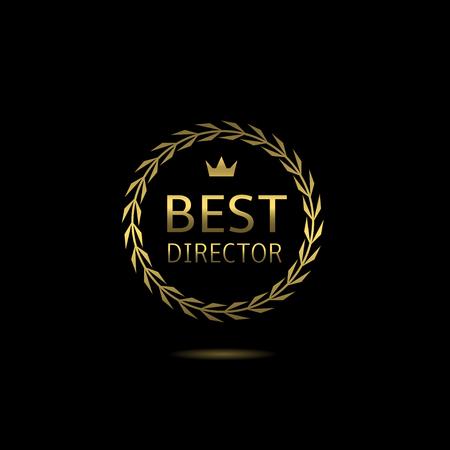 nomination: Best director award, golden laurel wreath badge