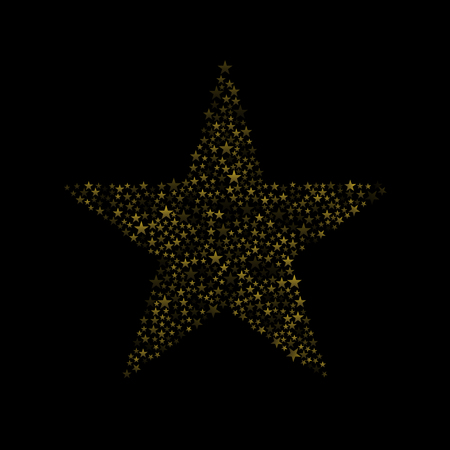 witchery: Golden magic abstract star icon, Vector illustration