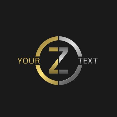 Lettre ronde Z avec des éléments d'or et d'argent pour votre marque de l'entreprise