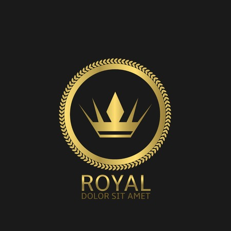royal quality: Golden Royal label. Success victory quality concept