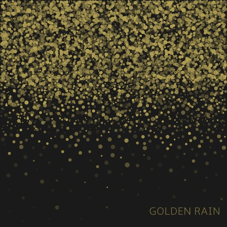 captivating: Magical golden rain abstract background with place for your text