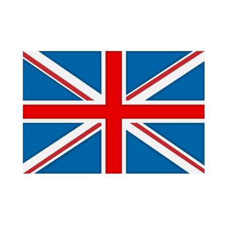 bandera de gran breta�a: Gran Breta�a bandera en el fondo blanco. ilustraci�n vectorial