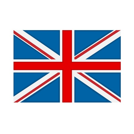 great britain flag: Great Britain flag on white background. Vector illustration