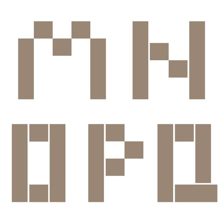 constructor: Constructor M N O P Q letters. Building concept