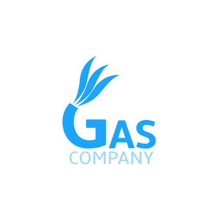 blue fire: Gas Company business . Blue fire symbol, Vector illustration Illustration