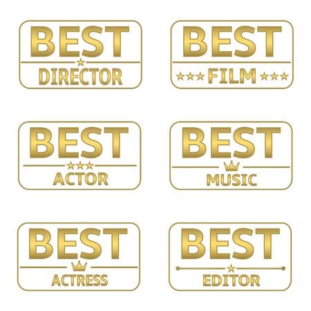 actress: Golden Award set. Best director, best film, best actor, best music, best actress, best editor