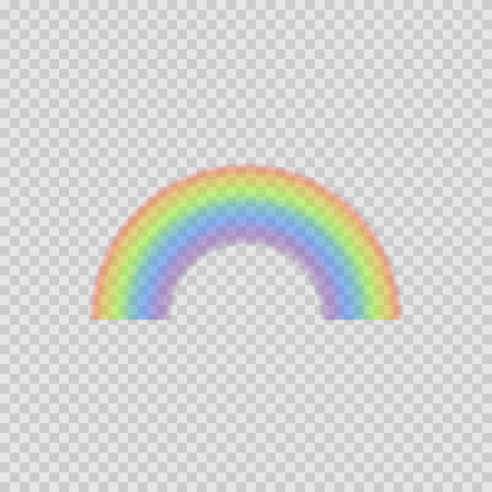 arched: Arched rainbow on transparent background. Vector illustration