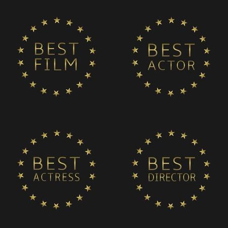 the best: Best film, best actor, best actress, best director labels
