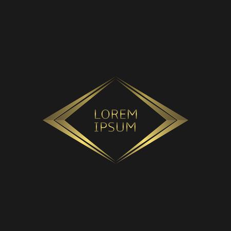 Icona del logo dorato. Concetto di lusso, illustrazione vettoriale