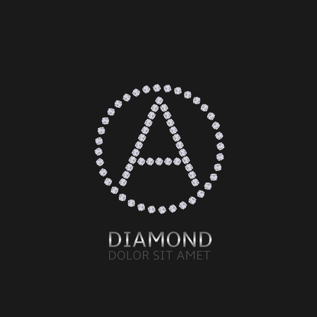 expensive: Letter A with diamonds. Expensive, presious symbol.