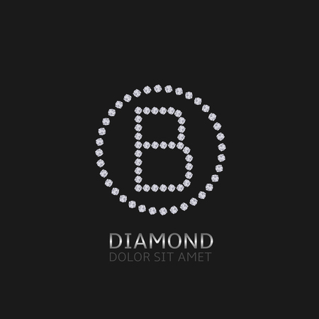 expensive: B Letter with diamonds. Expensive, presious symbol.
