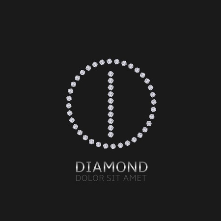 expensive: I Letter with diamonds. Expensive, presious symbol. Illustration