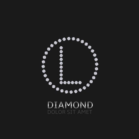 is expensive: L Letter with diamonds. Expensive, presious symbol. Illustration