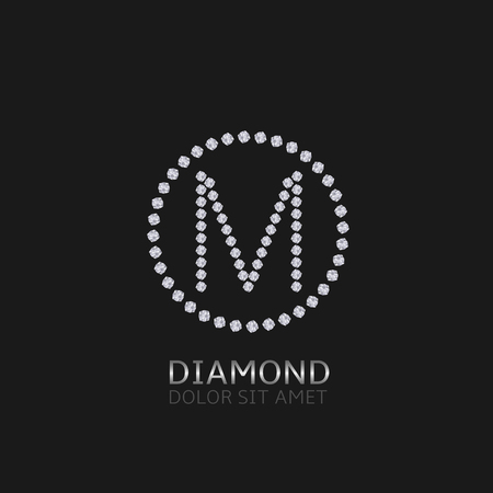 is expensive: M Letter with diamonds. Expensive, presious symbol.