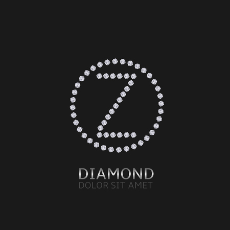 is expensive: Z Letter with diamonds. Expensive, presious symbol.