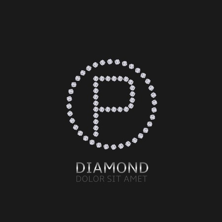 is expensive: P Letter with diamonds. Expensive, presious symbol.