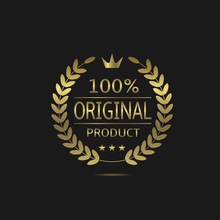100% original product. Golden label with laurel wreath and crown. Best quality sign