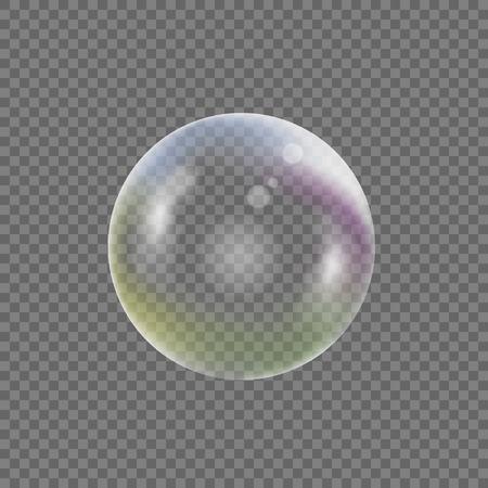 wet flies: Soap bubble on transparent background. Vector illustration Illustration