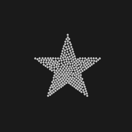 lucero: estrellas de lujo. El éxito concepto de calidad de premio. logotipo de la estrella. Estrella de oro con diamantes Vectores