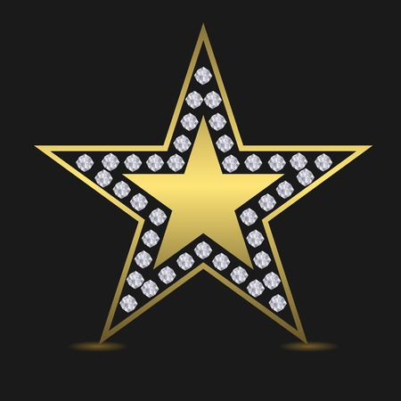 approval rate: Golden luxury star. Success award quality concept. Star. Golden star with diamonds