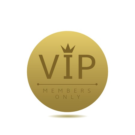 best security: Vip card. Members only. Golden Round card. Luxury glamour concept